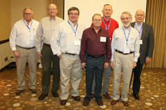 Select members of the PURE Oil Jobbers Cooperative received 20 year service awards during the 2014 Annual Shareholders' Meeting.